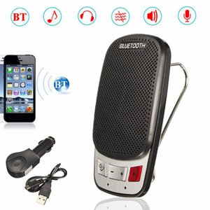 Wholesale Multifunction Wireless Bluetooth Hands Free Car Auto Kit Speakerphone Speaker Phone Visor Clip With USB Car Charger