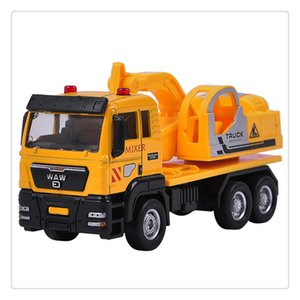 Wholesale Push and Go Friction Powered Alloy ABS Metal Car Model Construction Trucks Toy Diecast Vehicle for Children Birthday Gifts