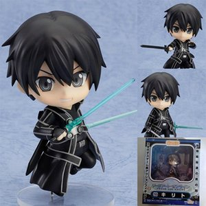 Wholesale Popular Anime Figure Sword Art Online Q Edition Clay Kirito Black Swords Boxed Action Figure Doll Toy Decoration