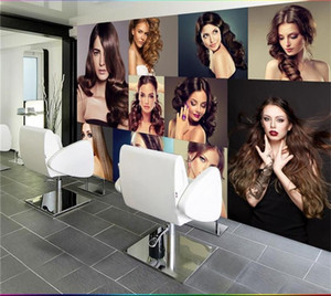 Wholesale 3d photo wallpaper custom living room mural hairdressing salon store beauty painting sofa KTV background wall non woven sticker