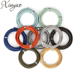 Wholesale XINYAO m Dia mm mm Genuine Braided Leather Cord Round Leather Rope Thread For DIY Necklace Bracelet Jewelry Making F1104