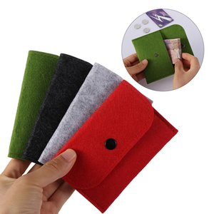 Wholesale New Sale Women Girls Mini Wallet Square Felt Coin Purse Change Money Bag Organizer Girls Zero Bag Pouch cm cm