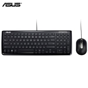 Wholesale Genuine ASUS KM Keyboard And Mouse Combo Official Use USB Wired Ergonomic Design Arc Shaped Edge Asus Laptop Desktop Esports