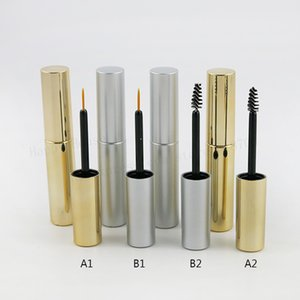 Wholesale new lipstick designs resale online - New design ml Empty UV Gold Silver Mascara Tube Eyelash Vial Liquid Bottle Portable cc Lipstick Tube Eyeliner Bottle
