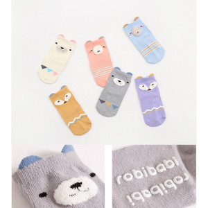 Wholesale Baby Under Age Cartoon Socks Winter Thicken Baby Socks Keep Foot Warm Cover For Kids Styles Animals