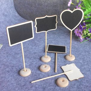 Wholesale Originality Small Blackboard Wooden Board Chalkboard Holder With Stand Wedding Ceremony Decoration Handicraft Ornaments Hot Sale lc gg