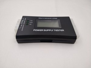Wholesale Computer PC Power Supply Tester ATX ITX IDE HDD SATA Connectors Power Supply Tester LCD Screen Black Plastic shell