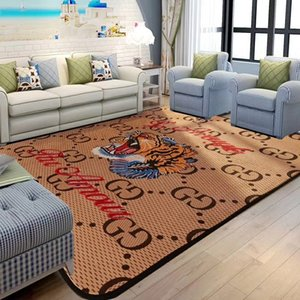 Wholesale Khaki Tiger Head Carpet Gg Fashion Letter Non Slip Mat European And American Decorate Foot Pad