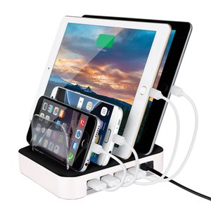 Wholesale Fast USB Charging Station Port Charging Dock Detachable Universal Multi Port USB Station cables included