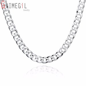 мужские цепи оптовых-10mm Heavy Cuban Curb Chain Men s Necklace Fashion Men Jewelry Silver Mens Brazilian Chains Necklaces