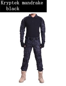 Wholesale Men Army Equipment Paintball Shooting Pants Combat Tactical Pants Shirts with Knee Elbow Pads