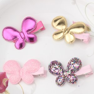 Wholesale Hot Sale Cute Shiny Butterfly Star Heart Hair Clip Candy Colors Children Hairpins Girls Headwear Barrettes Hair Accessories