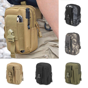 Wholesale 2018 Wallet Pouch Purse Phone Case Universal Outdoor Tactical Holster Military Molle Hip Waist Belt Bag with Zipper for iPhone Samsung