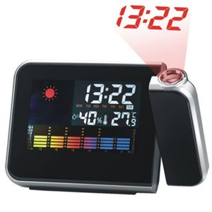 Wholesale Hot Digital Weather LCD Projection Snooze Alarm Clock with Colorful LED Backlight