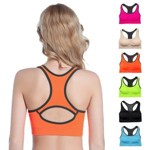 Wholesale Women Bras Ladies Bras Professional Shock proof Yoga Running Fitness Sports Bra Backless Hollow Breathable Push Up Sleep Underwear