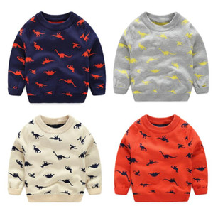 autumn winter Knitted Toddler Boy Sweater Casual Spring Cartoon Dinosaur Pattern Warm Cotton Boys Sweaters Pullovers Children on Sale