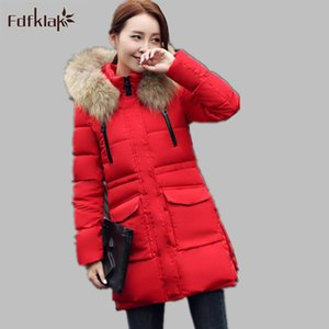 Wholesale M XL Plus Size Women Winter coat New Korean Slim Down Jacket Thickening Fur Collar Women With Hood Styles E0673