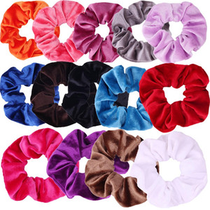 Wholesale Hair Scrunchies Velvet Elastic Hair Bands Scrunchy Hair Ties Ropes Scrunchie for Women or Girls Accessories