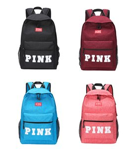 4 Color PINK Letter Backpacks 2018 Student Fashion Large Female Travel Backpack For School Bag Outdoor Travel Bags