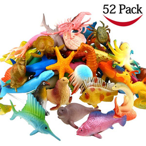 Wholesale Ocean Sea Animal Pack Assorted Mini Vinyl Plastic Animal Toy Set Funcorn Toys Realistic Under The Sea Life Figure Bath Toy for Child Ed