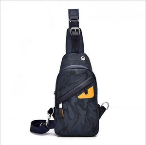 Wholesale Hot Sell Fashion One Shoulder Messenger Bag Men Outdoor Casual Little Monster Canvas Chest Bag Backpacks Leisure sling bag