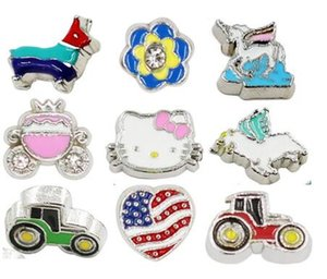 Wholesale Multiple Choise Car Flower Baby Heart Floating Locket Charms DIY Accessories Fit For Glass Living Magnetic Locket Holiday Gift