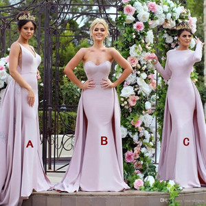 5bbd5be5ecd43 Wholesale Pink 2018 New Arrival Mermaid Bridesmaid Dresses Sweetheart  Backless Wedding Maid of Honor Dress Prom