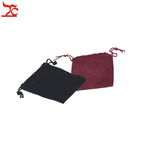 Wholesale Good Quality Black Red Fabric Drawstring Jewelry Package Pouch Present Birthday Trinkets Organizer Storage Gift Bag cm