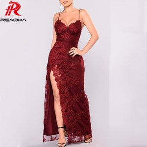 Wholesale Sexy Red White Lace Summer maxi Dress women elegant Backless christmas long dresses Nightclub Party bodycon clothes vestido Hot