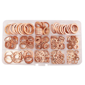 New high-quality solid seal 280 pieces of copper washers copper washers accessories M5-M2012 size on Sale
