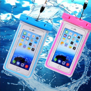 Wholesale PVC Waterproof Phone Case Cover for Cell Phone Touchscreen Mobile iphone Plus Water Proof Underwater Transparent Pouch Bag
