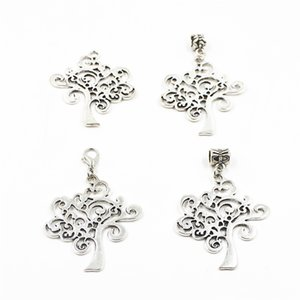 Wholesale 20pcs Wish tree Hanging Dangle Charms Lobster Clasp Big Hole Loose Beads European Charms Fit Diy Bracelet Necklace Pendant Jewelry Accessory