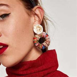 Wholesale statement earrings for sale - Group buy Best Lady New Arrival Colorful Bohemian Trendy Stud Earring Simple Design Fashion Statement Earring Jewelry For Women Pairs