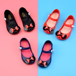 Wholesale Free DHL 5 Color Baby girl jelly shoes 2018 Summer new dot bow Korean version of the lovely princess shoes girl sandals B001