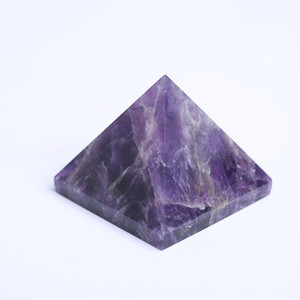 Wholesale amethyst pyramid for sale - Group buy Drop shipping cm Natural dream amethyst pyramid gemstone pyramid polished quartz crystal pyramid healing for home decoration