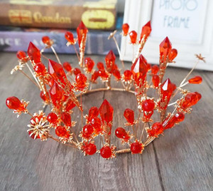 Wholesale Crystal Baroque crown ornament bride wedding dress banquet performance accessories
