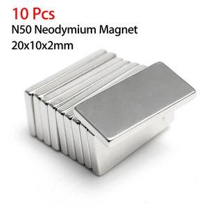 10pcs N50 20x10x2mm Neodymium Block Magnet Oblong Super Strong Rare Earth Magnets