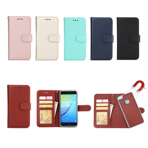 Wholesale 2 in Detachable Leather Wallet Flip Case For HuaWei P20 Lite Mate Pro P8 P9 P10 PlusWith Magnetic Back Cover