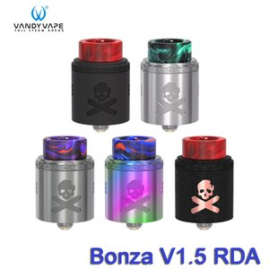 Wholesale Vandy Vape Bonza V1 RDA mm Diameter Dual AFC Options Atomizer Top Cap Locking System Authentic Vandyvape Electronic Cigarettes