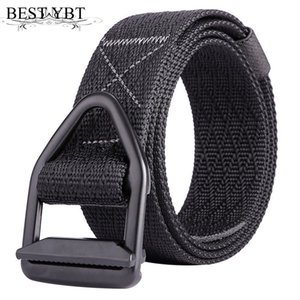 Wholesale Best YBT Unisex belt high quality Nylon Alloy ring buckle Men belt fan outdoor sport casual simple Men cowboy