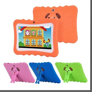 "DHL Kids Brand Tablet PC 7"" Quad Core children tablet Android 4.4 Allwinner A33 google player wifi + big speaker + protective cover"