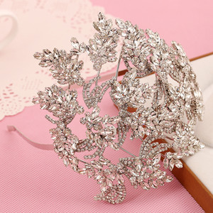 Gorgeous Crystals Headhands Tiaras 2018 New Arrivals Stunning Glitter Beaded Bridal Fascinators Wedding Bride Crown Headpieces Free Shipping on Sale