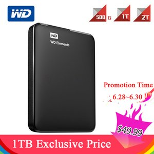 "WD s 500G 1TB 2TB HDD Set USB 3.0 2.5"" 5400 RPM Portable External Hard Disk Drive With Hard Drive Case"