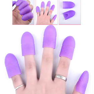 Wholesale 5pc Nail Art Tips UV Gel Polish Remover Wrap Silicone Elastic Soak Off Cap Clip Manicure Cleaning Varnish Tool Reusable Finger New Arrival