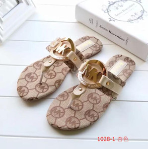 Wholesale Women Sandals Designer Shoes Luxury Slide Summer Fashion Wide Flat Slippery With Thick Sandals Slipper Flip Flop size36