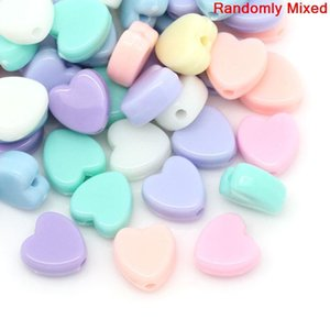 Wholesale Doreen Box Acrylic Charm Beads Heart Mixed mm x mm