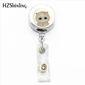 Wholesale NBH New White Cat badge Holder Lovely Cat ID Holder Doctor Bagde Reel Lovely Cat ID Holder Doctor Bagde Reel