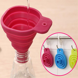 2018 High Quality 1pc New Mini Silicone Gel Foldable Collapsible Style Funnel Hopper Kitchen cooking tools