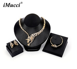 iMucci Individuality New Women Golden Colour Tiger Shape Wild Style Jewelry Sets Necklace Earring Bracelet Party Accessories