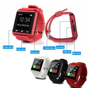 Wholesale Hot sale U8 Smartwatch Bluetooth Watch Drink Clock Passometer Touch Screen Answer and Dial the Phone with retail box